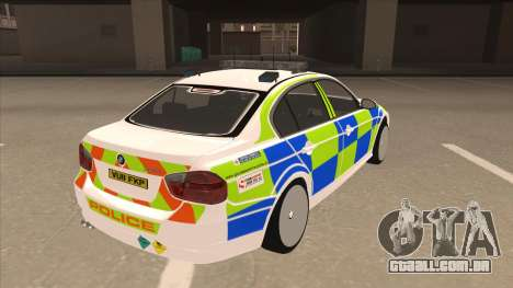 European Emergency BMW 330 para GTA San Andreas vista direita