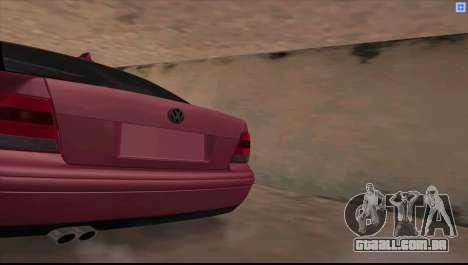 Volkswagen Bora V6 Stance para GTA San Andreas esquerda vista