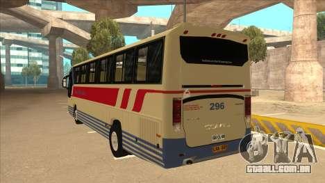 Davao Metro Shuttle 296 para GTA San Andreas vista traseira
