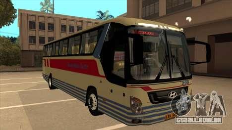 Davao Metro Shuttle 296 para GTA San Andreas esquerda vista