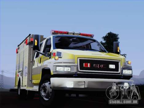 GMC C4500 Topkick BCFD Rescue 4 para GTA San Andreas vista inferior