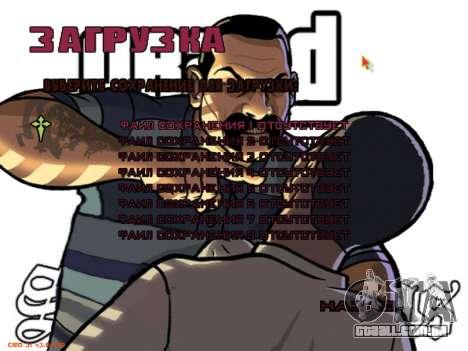 Novo menu para GTA San Andreas sétima tela