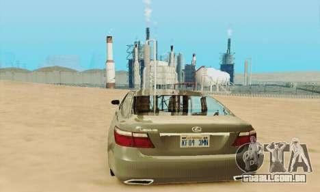 Lexus LS 600h L para GTA San Andreas vista superior