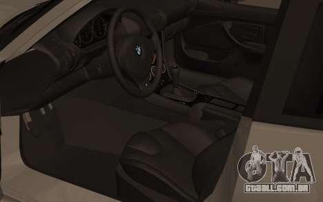 BMW Z3 M Power 2002 para GTA San Andreas vista traseira