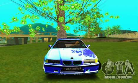 BMW E36 Low and Slow para GTA San Andreas vista interior