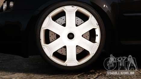 Audi S3 2001 para GTA 4 vista de volta