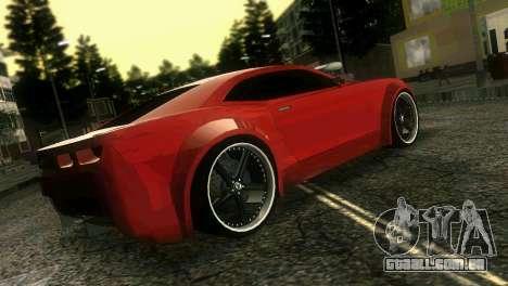 Chevrolet Camaro JR Tuning para GTA Vice City vista traseira esquerda