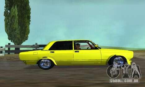 VAZ 2107 VIP para GTA San Andreas esquerda vista