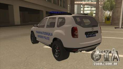 Dacia Duster Granična Policija foi para GTA San Andreas vista traseira