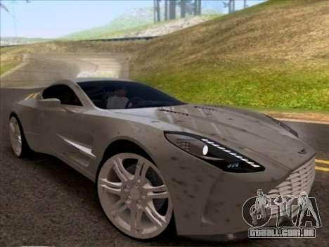 Aston Martin One-77 para GTA San Andreas vista traseira
