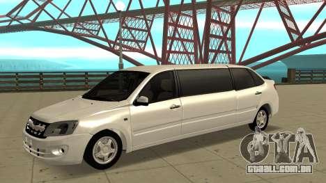 Lada Granta Limousine para GTA San Andreas
