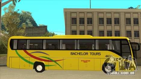 Kinglong XMQ6126Y - Bachelor Tours 463 para GTA San Andreas traseira esquerda vista