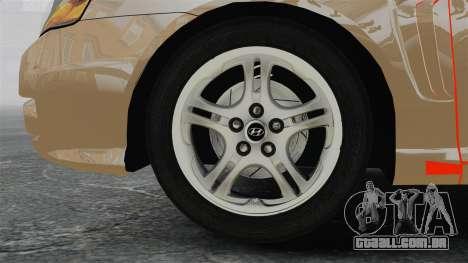 Hyundai Tiburon para GTA 4 vista de volta