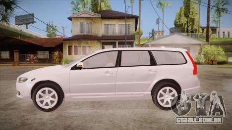 Volvo V70 Unmarked Police para GTA San Andreas esquerda vista