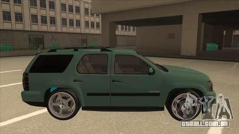 Chevrolet Tahoe Sound Car The Adiccion para GTA San Andreas traseira esquerda vista