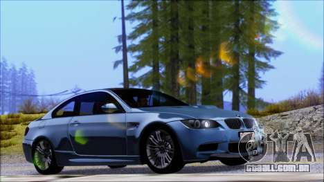 BMW M3 E92 para GTA San Andreas vista interior