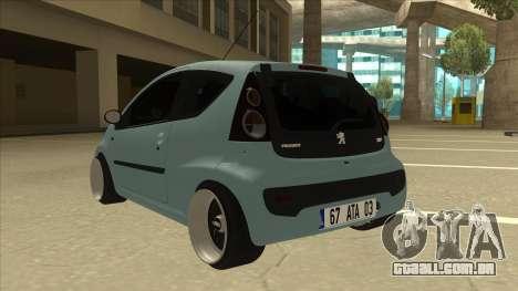 Peugeot 106 EuroLook para GTA San Andreas vista traseira
