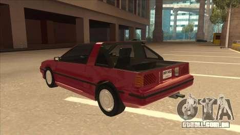Nissan EXA L.A. Version para GTA San Andreas vista traseira