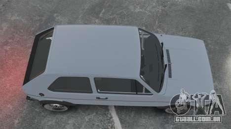 Volkswagen Golf MK1 GTI Update v1 para GTA 4 vista direita
