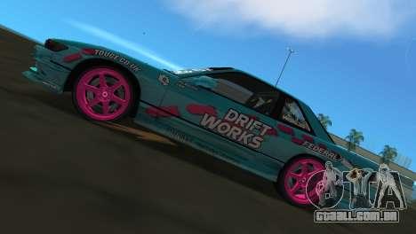 Nissan Silvia S13 Drift Works para GTA Vice City vista direita