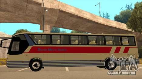 Davao Metro Shuttle 296 para GTA San Andreas traseira esquerda vista