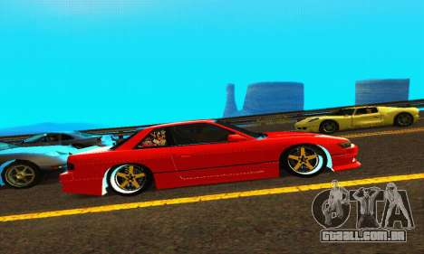 Nissan Silvia S13 HellaDrift para GTA San Andreas vista traseira