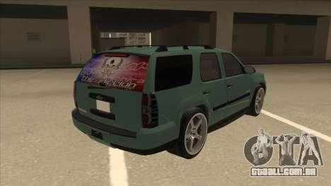 Chevrolet Tahoe Sound Car The Adiccion para GTA San Andreas vista direita