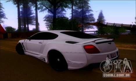 Bentley Continental GT para GTA San Andreas vista direita
