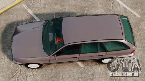 BMW 535 E34 Touring para GTA 4 vista direita