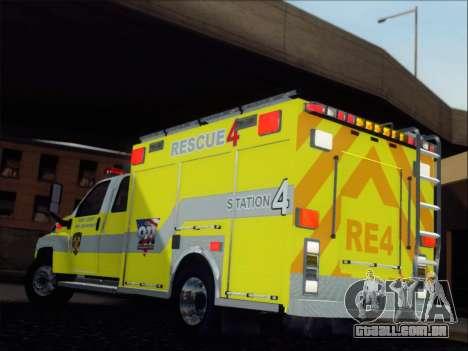 GMC C4500 Topkick BCFD Rescue 4 para GTA San Andreas traseira esquerda vista