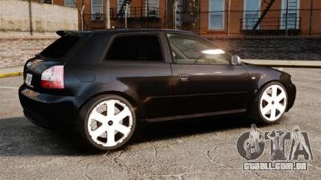 Audi S3 2001 para GTA 4 esquerda vista