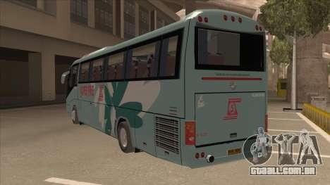 Higer KLQ6129QE - Super Fice Transport S 020 para GTA San Andreas vista traseira