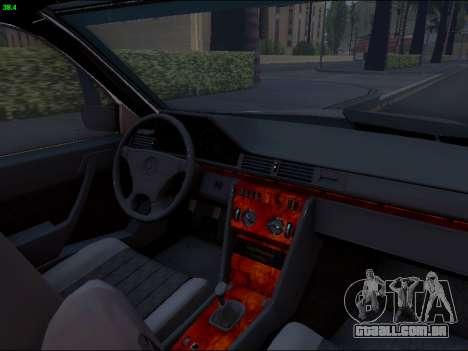 Mercedes-Benz E-Class W124 para vista lateral GTA San Andreas