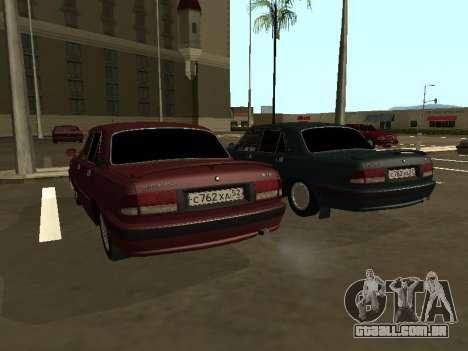 GAZ 3110 Volga para GTA San Andreas traseira esquerda vista