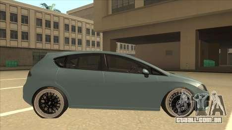 Seat Leon Clean Tuning para GTA San Andreas traseira esquerda vista