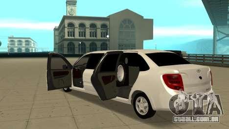 Lada Granta Limousine para GTA San Andreas vista interior