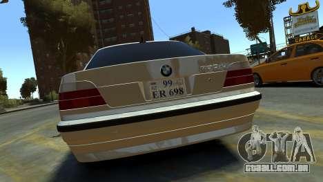 BMW 750iL para GTA 4 vista direita