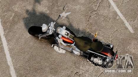 Harley-Davidson para GTA 4 traseira esquerda vista