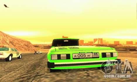 ZAZ 968 Cabriolet Tuning para GTA San Andreas vista traseira