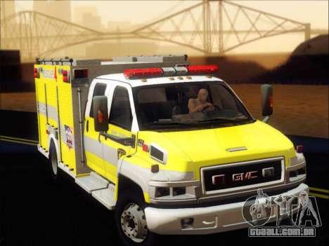 GMC C4500 Topkick BCFD Rescue 4 para GTA San Andreas esquerda vista
