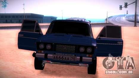 2106 Vaz para GTA San Andreas vista interior