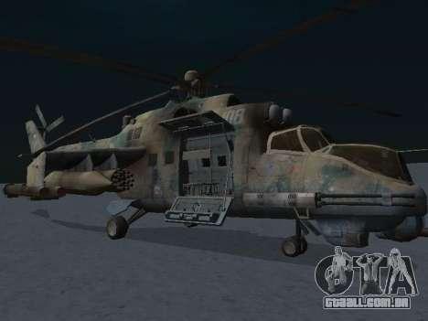 O MI-24 p para GTA San Andreas esquerda vista