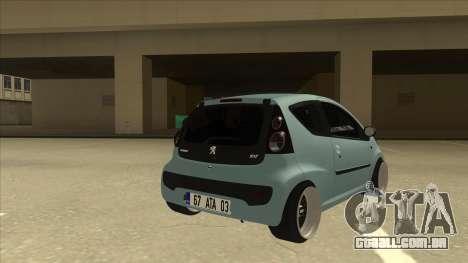 Peugeot 106 EuroLook para GTA San Andreas vista direita