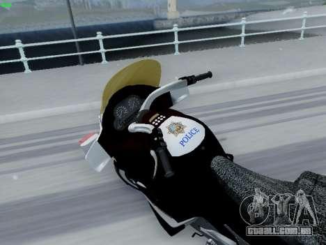 BMW K1200LT Police para GTA San Andreas esquerda vista