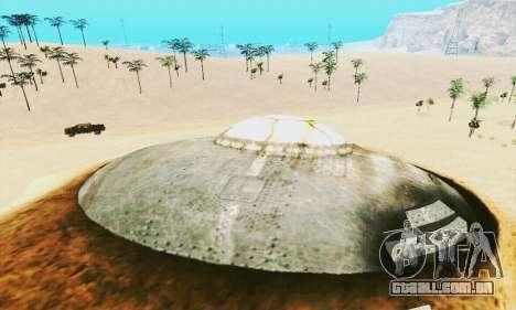 UFO Crash Site para GTA San Andreas quinto tela