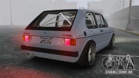 Volkswagen Golf MK1 GTI Update v1 para GTA 4 traseira esquerda vista