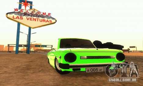 ZAZ 968 Cabriolet Tuning para GTA San Andreas esquerda vista