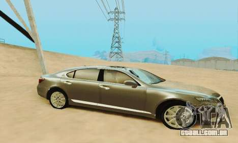 Lexus LS 600h L para GTA San Andreas vista inferior