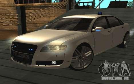 Audi A8L D3 para GTA San Andreas traseira esquerda vista