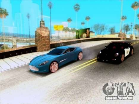 Aston Martin One-77 para vista lateral GTA San Andreas